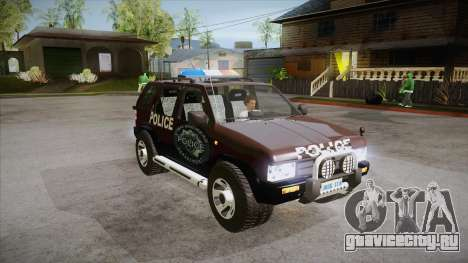 Nissan Terrano RB26DETT Police для GTA San Andreas вид сзади