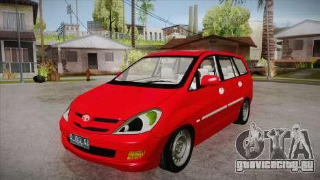 Toyota Kijang Innova 2.0 G v3.0 Steel Rims для GTA San Andreas