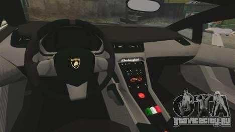 Lamborghini Veneno для GTA 4 вид изнутри