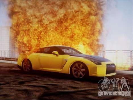 Nissan GT-R R35 Spec V 2010 для GTA San Andreas вид сзади