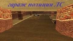 Новый интерьер подземного гаража полиции ЛС