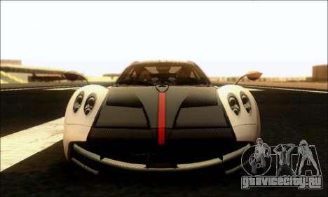 Pagani Huayra Cinque для GTA San Andreas вид изнутри