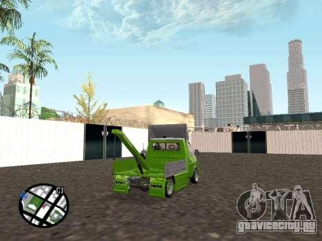 Газель Эвакуатор для GTA San Andreas вид сзади слева