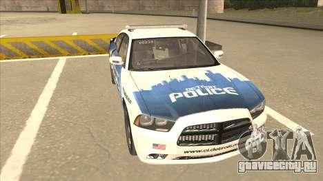 Dodge Charger Detroit Police 2013 для GTA San Andreas вид слева