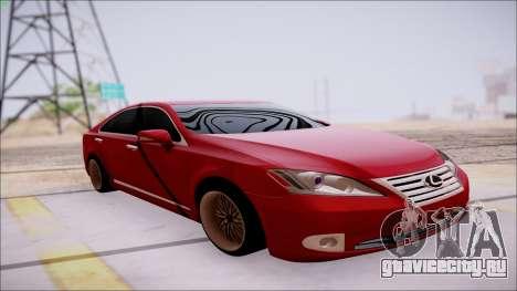 Lexus ES350 2010 для GTA San Andreas вид изнутри