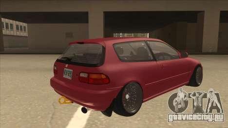 Honda Civic EG6 Camber для GTA San Andreas вид справа