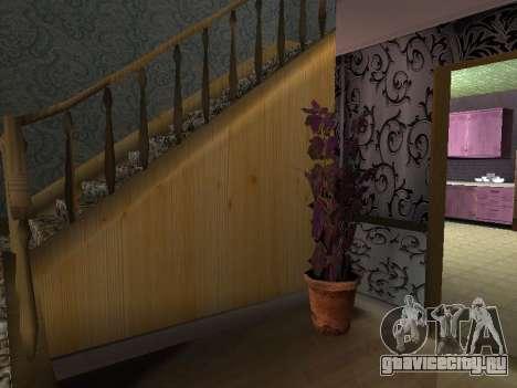 Новый интерьер 2-ух этажного дома CJ для GTA San Andreas седьмой скриншот