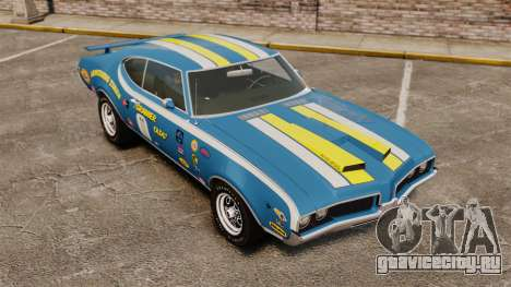 Oldsmobile Cutlass Hurst 442 1969 v2 для GTA 4 вид сверху