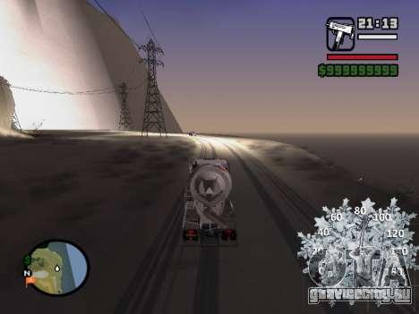 Новогодний спидометр для GTA San Andreas третий скриншот