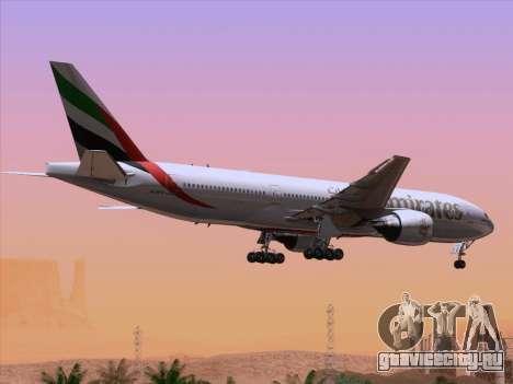 Boeing 777-21HLR Emirates для GTA San Andreas двигатель