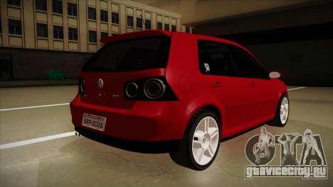VW Golf GTI 2008 для GTA San Andreas вид справа