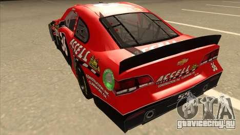 Chevrolet SS NASCAR No. 36 Accell для GTA San Andreas вид сзади