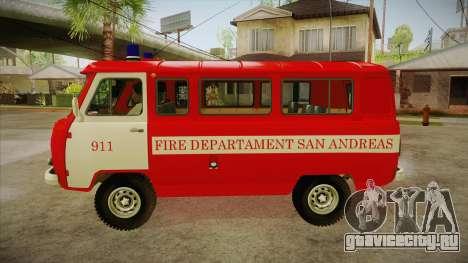 UAZ 452 Пожарный штабной SA для GTA San Andreas вид слева