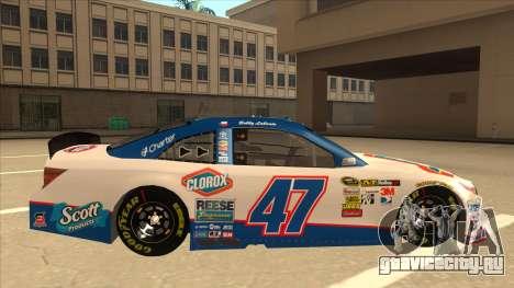 Toyota Camry NASCAR No. 47 Clorox для GTA San Andreas вид сзади слева