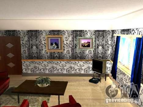 Новый интерьер 2-ух этажного дома CJ для GTA San Andreas третий скриншот