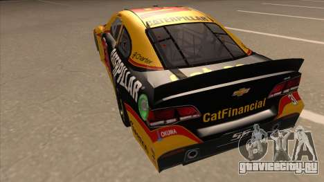 Chevrolet SS NASCAR No. 31 Caterpillar для GTA San Andreas вид сзади
