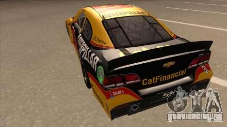 Chevrolet SS NASCAR No. 31 Caterpillar для GTA San Andreas вид сзади