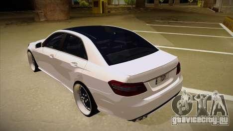 Mercedes-Benz E63 6.3 AMG Tedy для GTA San Andreas вид сзади