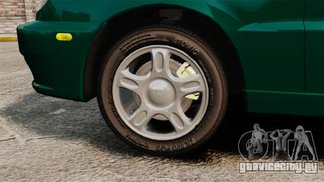 Daewoo Lanos 1997 Cabriolet Concept v2 для GTA 4 вид сзади