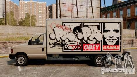 Новые граффити для Steed для GTA 4 вид сзади слева