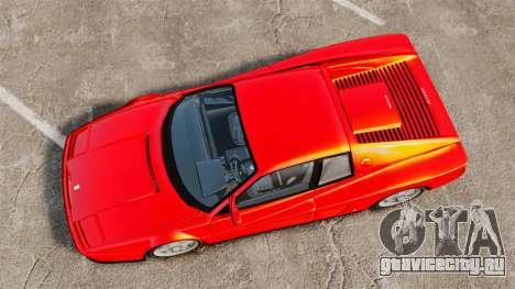 Ferrari Testarossa 1986 для GTA 4 вид справа