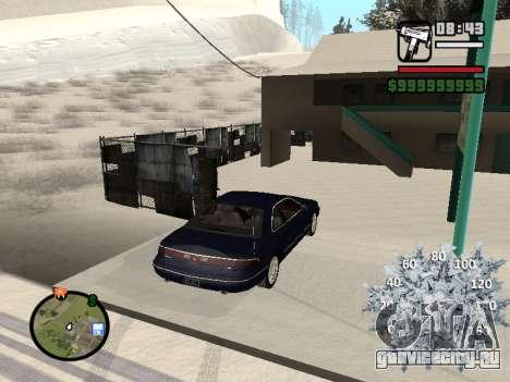 Новогодний спидометр для GTA San Andreas