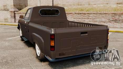 ГАЗ-3110 Пикап для GTA 4 вид сзади слева