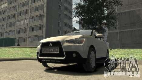Mitsubishi ASX 2010 для GTA 4 вид сзади