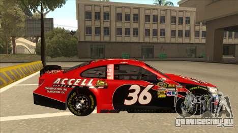 Chevrolet SS NASCAR No. 36 Accell для GTA San Andreas вид сзади слева