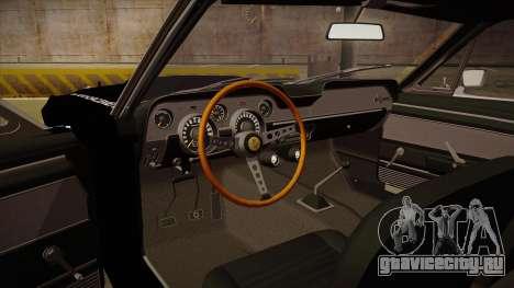Shelby Mustang GT500 Eleanor Police для GTA San Andreas вид изнутри