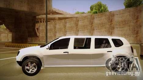 Dacia Duster Limuzina для GTA San Andreas вид сзади слева