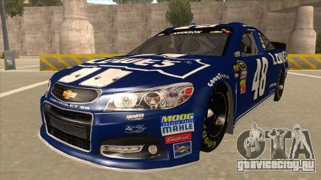 Chevrolet SS NASCAR No. 48 Lowes blue для GTA San Andreas