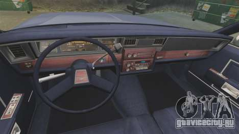 Chevrolet Caprice 1986 для GTA 4 вид сзади