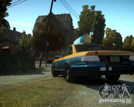 GTA V Taxi для GTA 4 вид сзади слева