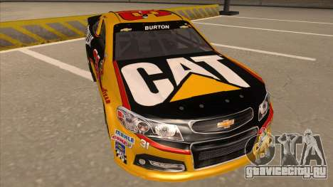 Chevrolet SS NASCAR No. 31 Caterpillar для GTA San Andreas вид слева