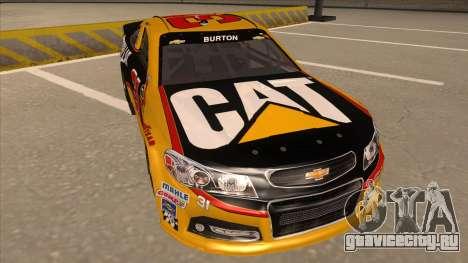 Chevrolet SS NASCAR No. 31 Caterpillar для GTA San Andreas вид слева