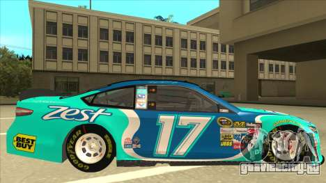 Ford Fusion NASCAR No. 17 Zest Nationwide для GTA San Andreas вид сзади слева