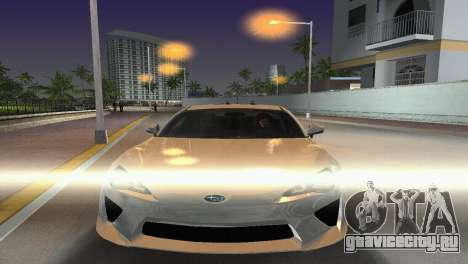 Subaru BRZ Type 2 для GTA Vice City вид сзади