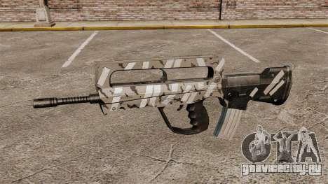 Автомат FAMAS (зимний) для GTA 4 третий скриншот