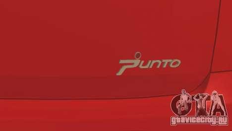 Fiat Grande Punto для GTA San Andreas вид сбоку