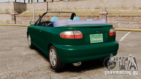 Daewoo Lanos 1997 Cabriolet Concept v2 для GTA 4 вид сзади слева