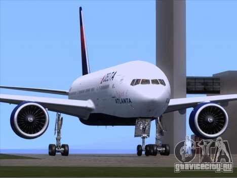 Boeing 777-200ER Delta Air Lines для GTA San Andreas вид сзади слева