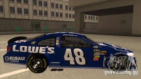 Chevrolet SS NASCAR No. 48 Lowes blue для GTA San Andreas вид сзади слева