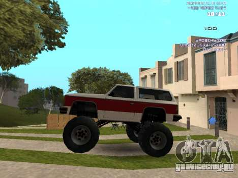 Rancher Monster для GTA San Andreas вид слева