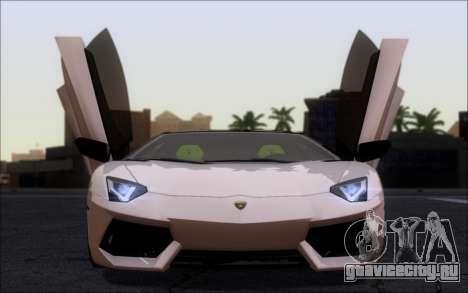 Lamborghini Aventador LP760-2 EU Plate для GTA San Andreas вид сзади слева