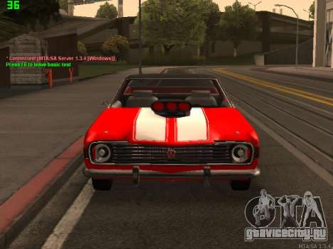 ГАЗ El Camino SS для GTA San Andreas вид сзади