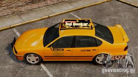 Taxi2 с новыми дисками для GTA 4 вид сзади слева