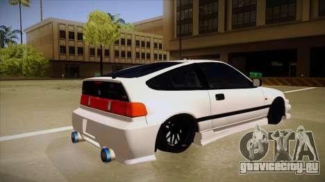 Honda CRX JDM Style для GTA San Andreas вид справа