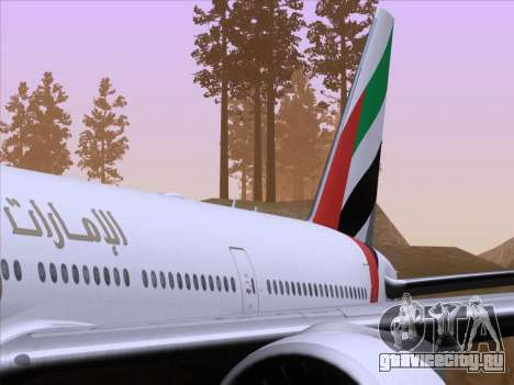 Boeing 777-21HLR Emirates для GTA San Andreas салон