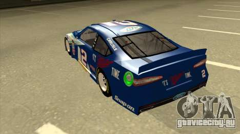 Ford Fusion NASCAR No. 2 Miller Lite для GTA San Andreas вид сзади
